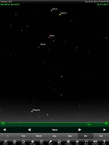 Use the Moon to find Mars and Saturn tonight ...