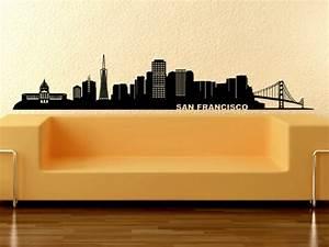 Wandtattoo San Francisco : coole wandgestaltung frische ideen f r ihren innenraum ~ Whattoseeinmadrid.com Haus und Dekorationen