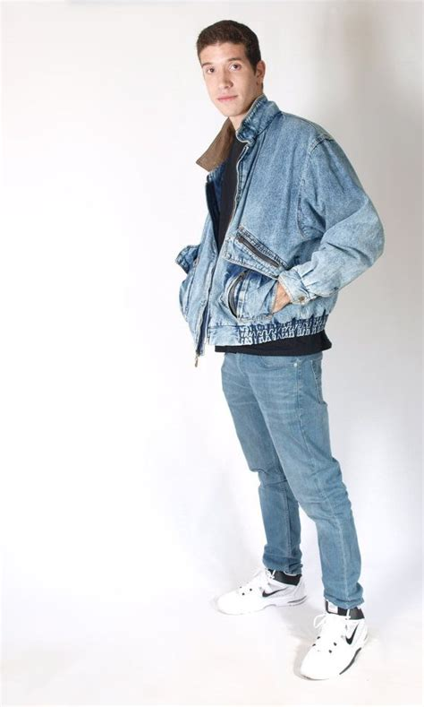 Acid Wash Denim Bomber Jacket - 90s Oversize Bomber Squadron Jacket - Mens sz XL | Denim bomber ...