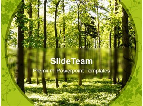 forest path  nature powerpoint templates  themes