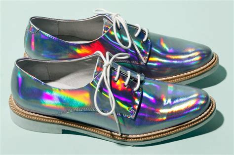 Miista Zoe Leather Hologram Shoes In Iridescent Purple