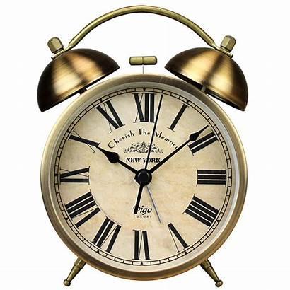 Alarm Clock Retro Metal Bedside Clocks Night
