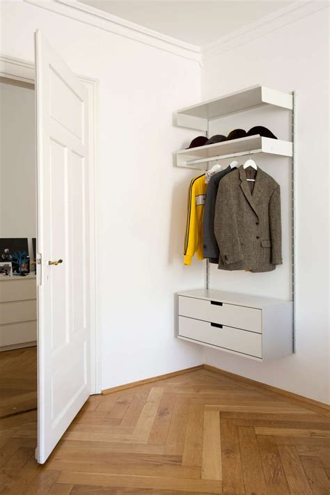 Wardrobe With Drawers And Hanging by Make Use Of Awkward Areas Shelf With Hanging Rail For