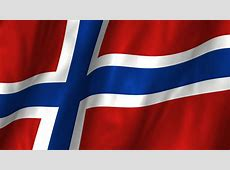 Waving Flag Of Norway, Blue White And Red Colors 3d