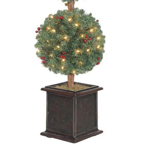 Christmas Tree 4 Feet Hudson Artificial Topiary 150 Clear