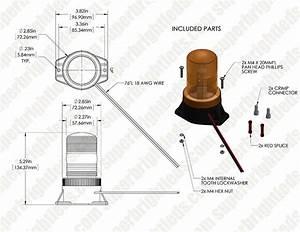 5 4 U0026quot  Amber Led Strobe Light Beacon With 10 Leds