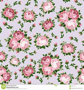 Seamless Pattern With Pink Roses. Royalty Free Stock ...