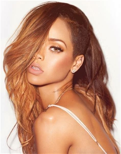 the side shaved head on rihanna hairstyles pinterest