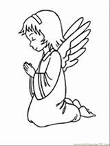 Angel Coloring Pages Printable Angels Print Praying Tattoo Cake Food Little Colouring Peoples Designs Knees Colorless Template Tattooimages Biz Popular sketch template