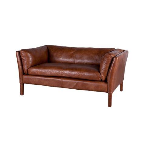 flamant canapé canapé bellamy en cuir vintage par flamant