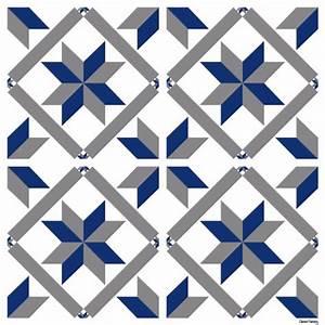 sticker carreaux de ciment marguerite bleu With carreaux de ciment bleu