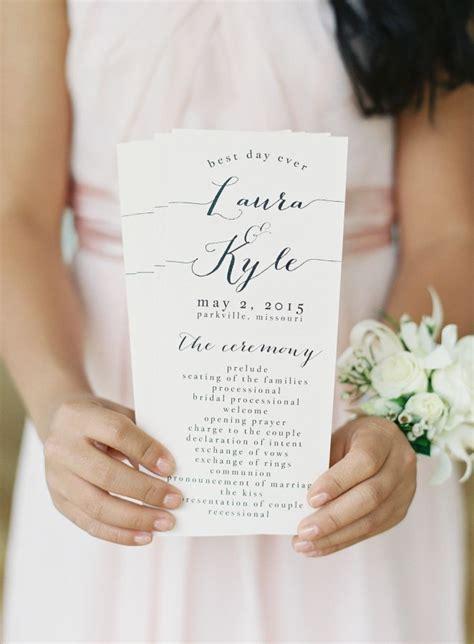 wedding programs ideas  pinterest wedding