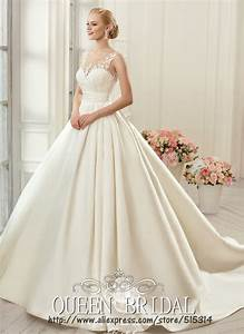 Satin princess ball gown wedding dresses gowns ideas for Princess ball gowns wedding dresses