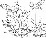 Coloring Pages Spring Landscape Comments sketch template