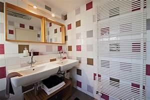 carrelage salle de bain imitation bois With carrelage mural salle de bain design