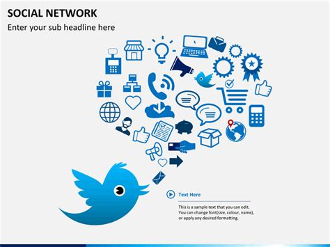 social network powerpoint template sketchbubble