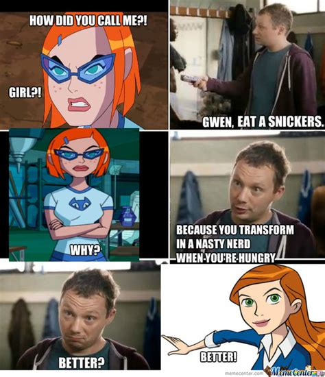Snickers Commercial Meme - anti omniverse gwen meme snickers commercial by popaandreea on deviantart