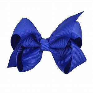 10cm Ribbon Bow - Royal Blue - Ruby Willow