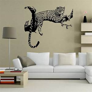 4880cm black white tiger on the tree wall stickers for for What kind of paint to use on kitchen cabinets for vinyl wall art stickers