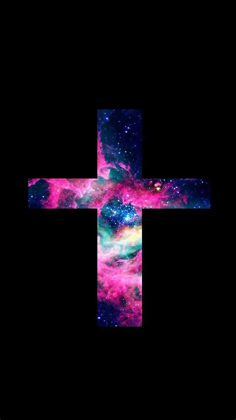 Black Wallpaper Iphone Cross by Lovedandsign For Phone Jesus Cross Galaxy Wallpaper