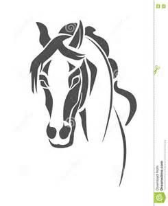 Horse Head Stencil