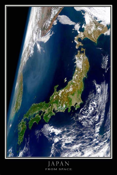 Japan Satellite Poster Map Best Japan Travel In 2019