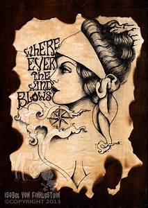 Original artwork - Gypsy circus vintage style ink tattoo ...
