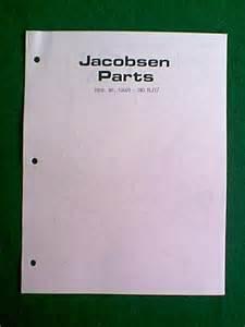 Jacobsen Snow Blower Sno Blitz Model 51609 Parts Manual