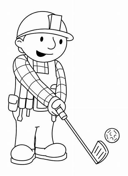 Bob Coloring Builder Golf Baumeister Budowniczy Ausmalbilder