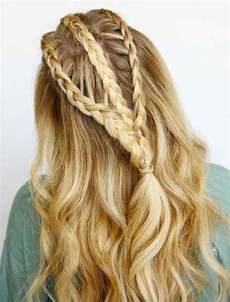 side braid hairstyles  long hair  stylish ladies