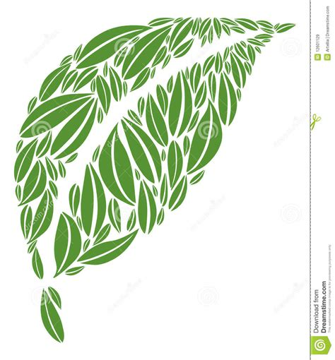 ls made from leaves leaf made of multiple green leaves vector illustration