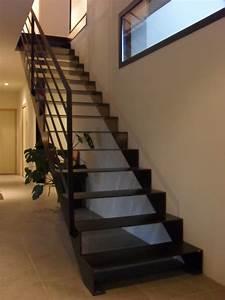 Escalier Metal Prix : escalier droit m tal et bois ~ Edinachiropracticcenter.com Idées de Décoration