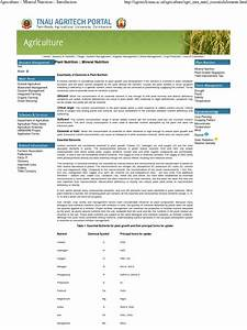 Agriculture    Mineral Nutrition    Introduction 1