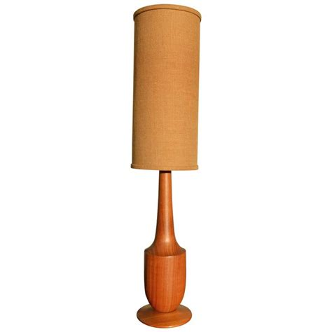 cylinder l shades for table ls solid teak sculptural tall l with jute cylinder shade