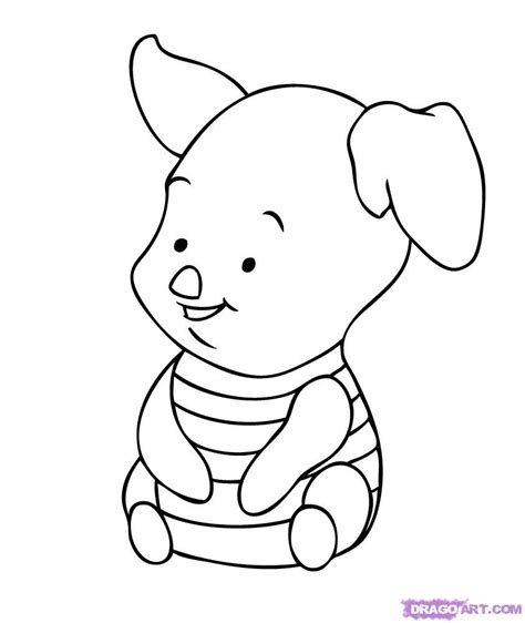 baby tigger coloring pages   draw baby piglet step