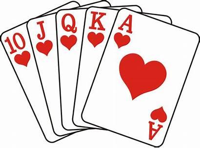Flush Poker Royal Clipart Card Diamonds Cards