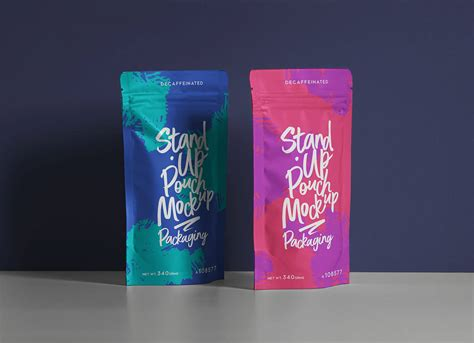 Free for individual and commercial use. Free Stand-up Pouch Bag Mockup PSD - Good Mockups