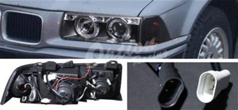 bmw e36 coupe 3 series 1992 1998 black ccfl halo projector headlights and smoked corner lights