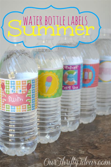 printable summer water bottle labels  thrifty ideas