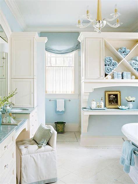bathroom  blue white cottage style cottage style