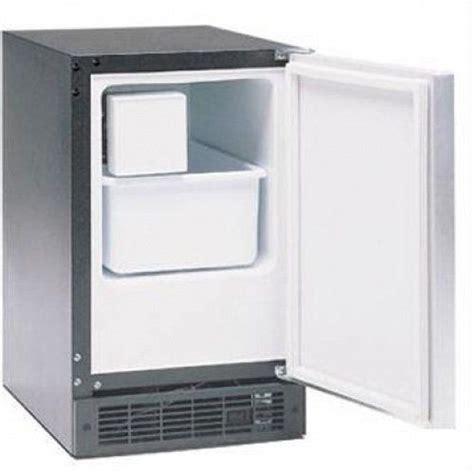 marvel im bs   indoor compact crescent ice machine  hinge   stainless steel