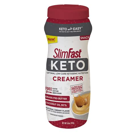 What to limit & avoid. SlimFast Keto Ketogenic Creamer, 6.6oz., 15 servings ...