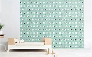 Papier Peint Bébé Garcon : papier peint mouton bleu menthe d co chambre b b ~ Nature-et-papiers.com Idées de Décoration