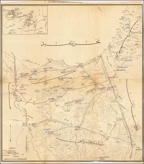 Ottoman Turkish Language by Ottoman Turkish Language Sinai And Palestine Caign Map