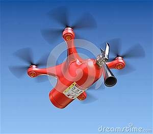 Fire Fighting Drone Stock Illustration - Image: 61288360