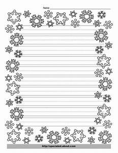 Snowflake lined writing paper download paper templates for Christmas paper to write letters on