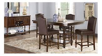 Stanton Cherry 5 Pc Counter Height Dining Room  Dining Room Sets Dark Wood
