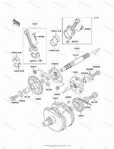 Kawasaki Motorcycle 1998 Oem Parts Diagram For Crankshaft
