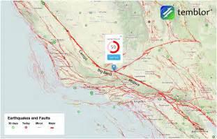 San Andreas Fault Map California