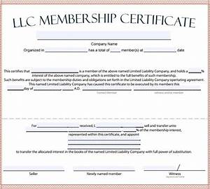Membership certificate template 15 free sample example format for Llc membership certificate template